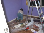 The babys room, painting the skirting, stage 5/6