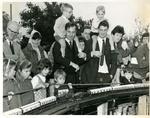 1968 (L-R) Michael on Johns shoulders, Kevin on Franks shoulders