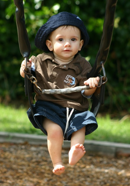 Hunter having a swing