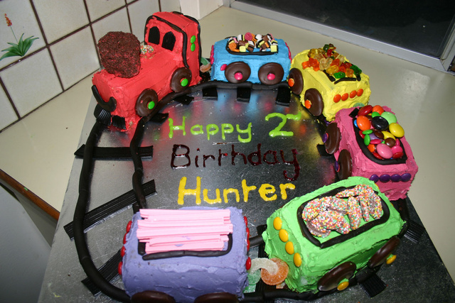 Hunters 2nd birthday cake