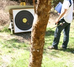 Sherbrooke Silver Cup 2005 Tree! My arrow in one of the two trees bookending this target.