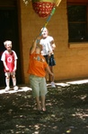 Callum hitting the Pinata