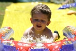 Callum on the waterslide