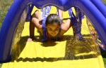 Hailey on the waterslide
