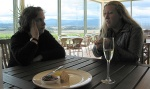 Kath & Sue discussing wine at Domain Chandon
