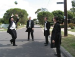 Ever tried playing Volleyball in full suits ?