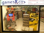Transformers: Store Window at Games Co.  Italy