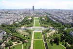 View from half way up the Eiffel Tower