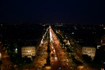 Champs d'Elysees at night, taken from the top of the Arc de Triomphe