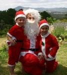 Santa and his (her) helpers